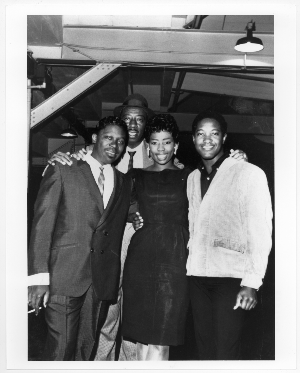 KYOK deejay George Nelson with Sam Cooke and B.B. King